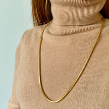 Load image into Gallery viewer, Flat snake chain necklace