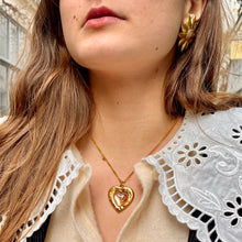Load the image in the gallery, Imposing Lancôme golden sun earrings from GIGI PARIS