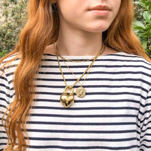 Load image into Gallery viewer, Agatha pendant with golden heart padlock by GIGI PARIS
