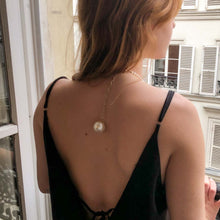 Load the image in the gallery, Chanel pearl long necklace signed on the back of GIGI PARIS