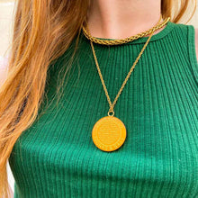 Load the image in the gallery, Louis Vuitton upcycled light orange necklace from GIGI PARIS