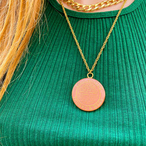 Pale pink Louis Vuitton upcycled necklace from GIGI PARIS