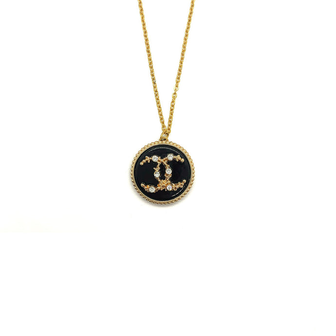 Pendentif upcyclé Chanel Strass