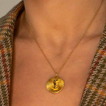 Load the image in the gallery, Yves Saint Laurent sun upcycled pendant