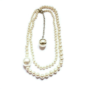 Chanel pearl long necklace signed on the back of GIGI PARIS