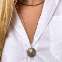 Load image into Gallery viewer, Upcycled Dior silver long necklace from GIGI PARIS