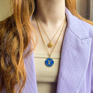 Louis Vuitton Azur upcycled long necklace from GIGI PARIS