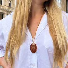 Load image into Gallery viewer, Louis Vuitton Macao upcycled long necklace by GIGI PARIS
