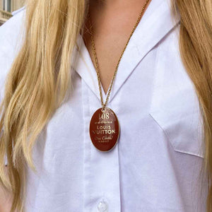 Louis Vuitton Macao upcycled long necklace from GIGI PARIS