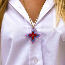 Load the image in the gallery, Louis Vuitton fleur de lys upcycled long necklace from GIGI PARIS