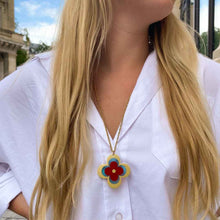 Load the image in the gallery, Louis Vuitton upcycled long necklace, monogram flower