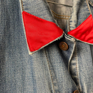 ❤️Levi's x Coco red collar upcycled jacket