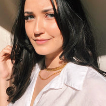 Load the image in the gallery, Golden American chain chocker necklace from GIGI PARIS
