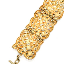 Load the image in the gallery, Lanvin gold cuff with geometric patterns