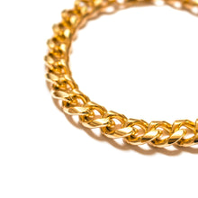 Load the image into the gallery, Gold curb chain bracelet watch style clasp