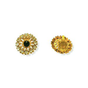 Gripoix earrings for Chanel golden central pearl in glass paste and Swarovski crystals