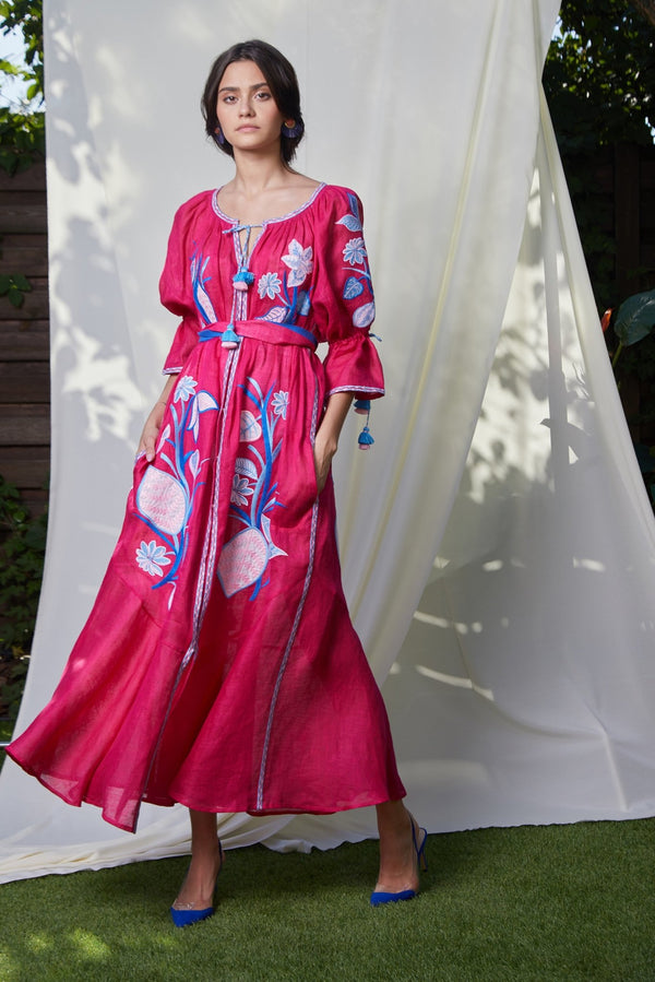 EDEN FUCHSIA MAXI DRESS - dresses - Foberini