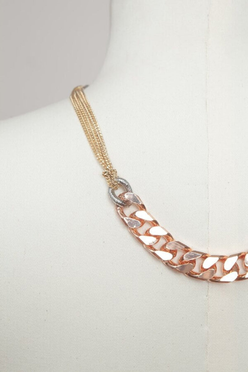 Garby mixed chain necklace - necklace - Samokish