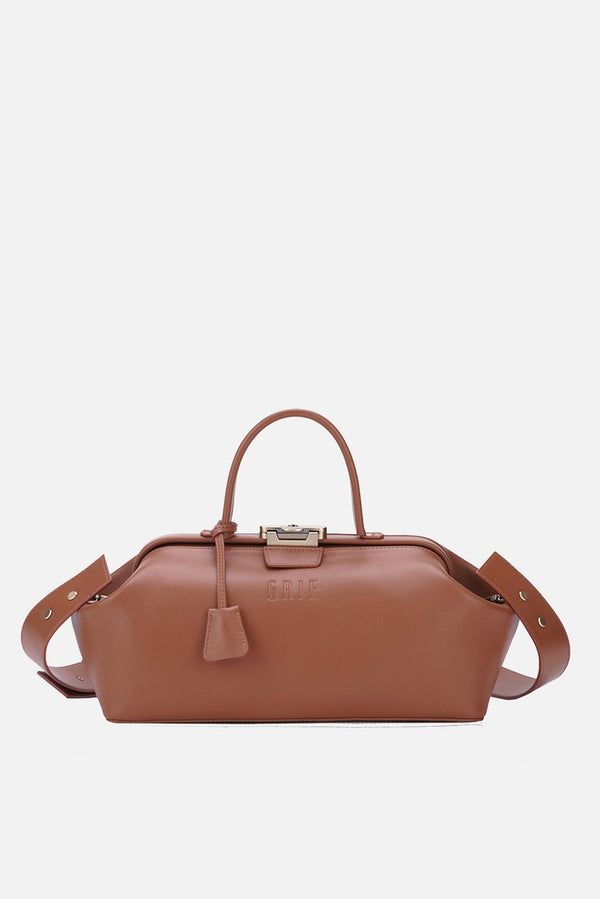 Grie baguette brown leather bag - bags - Grie