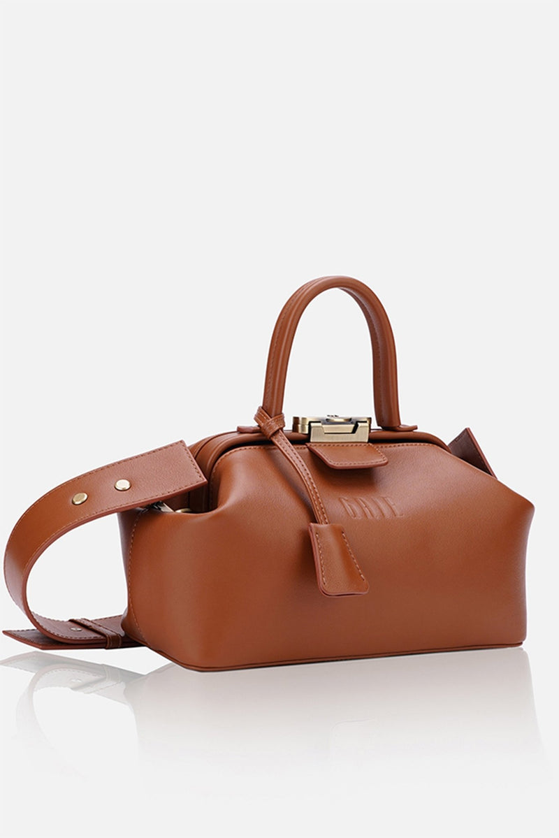 Grie noble brown leather bag - bags - Grie