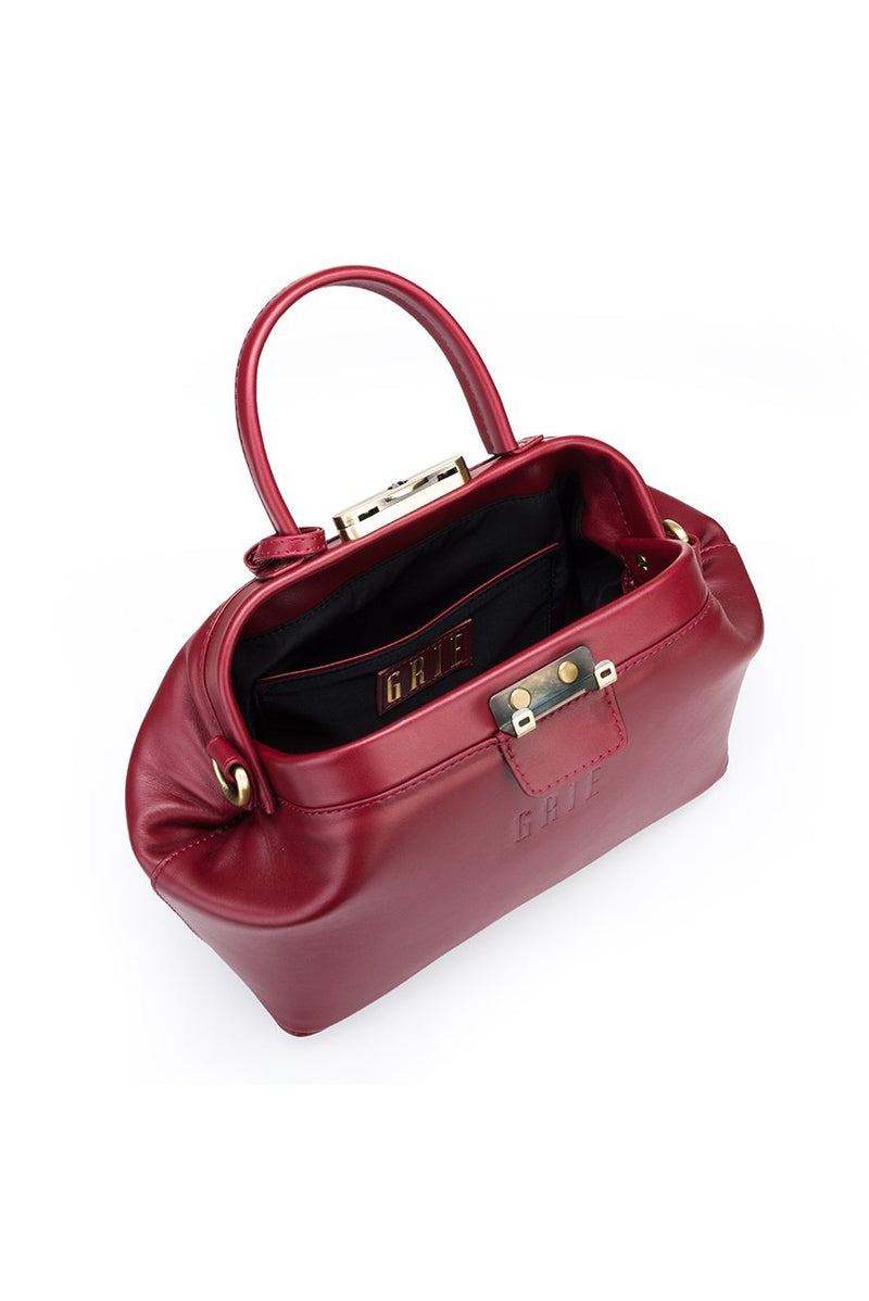 noble burgundy bag - bags - Grie