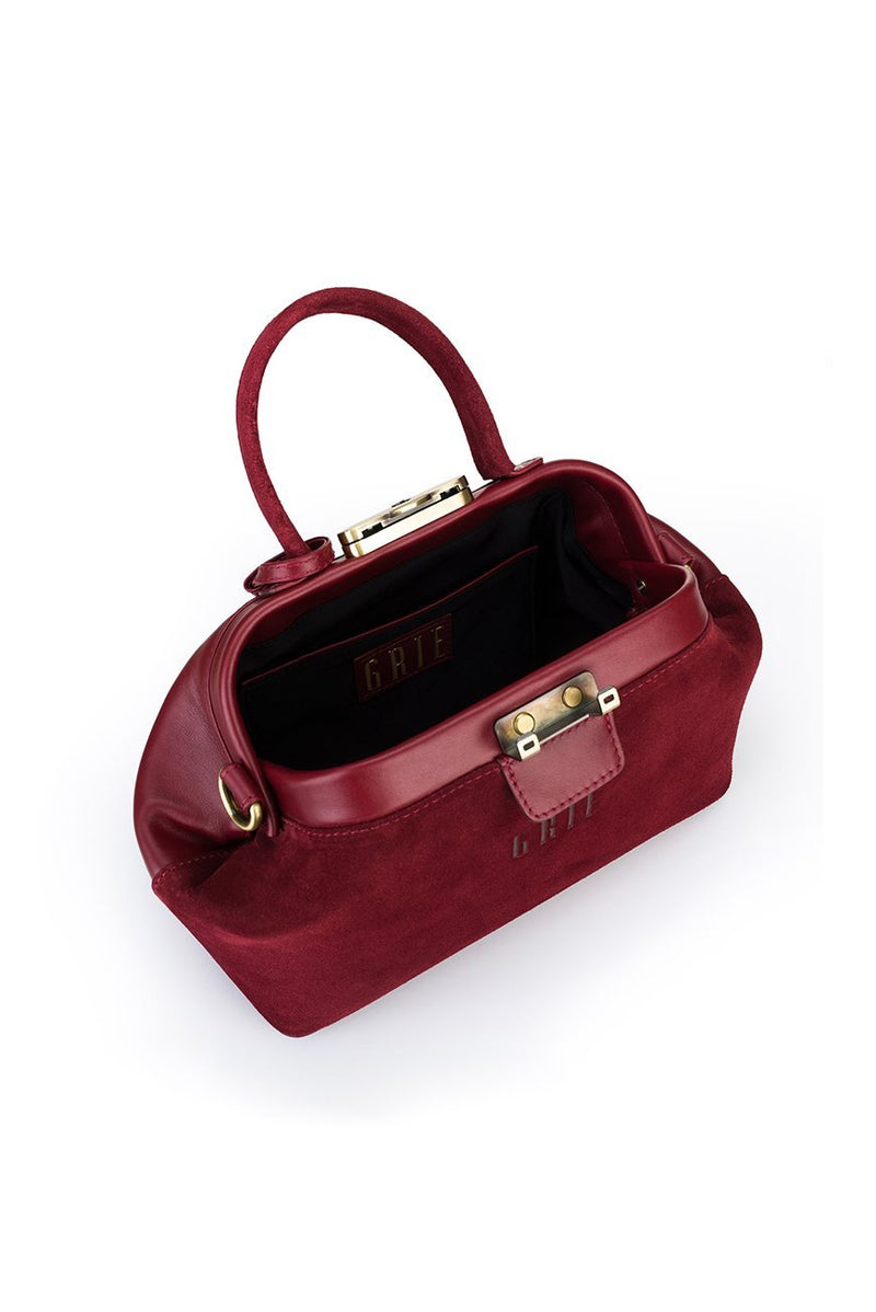 noble suede burgundy bag - bags - Grie