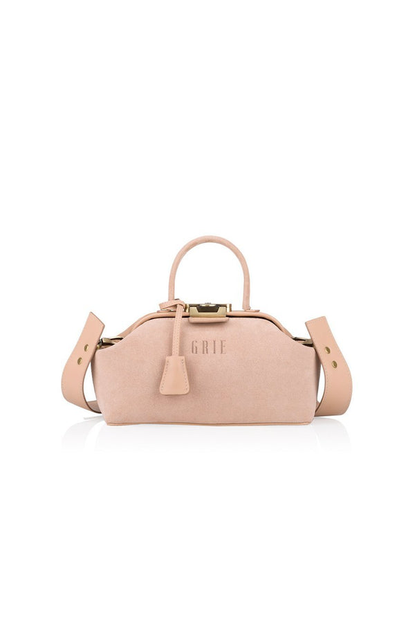 noble suede nude bag - bags - Grie