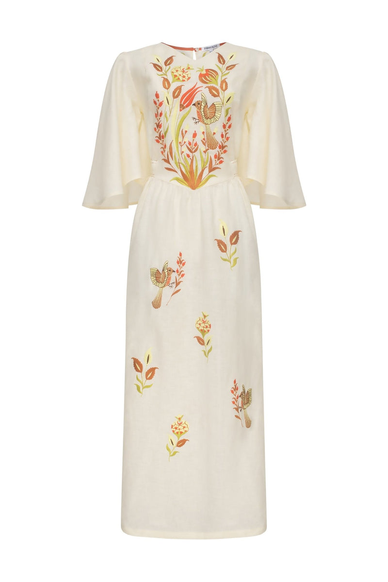 QUEZAL BEIGE MAXI DRESS - dresses - Foberini