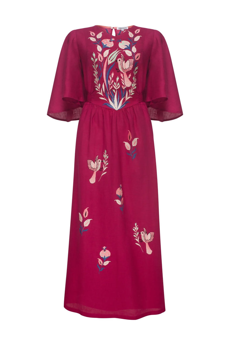 QUEZAL BORDEAUX MAXI DRESS - dresses - Foberini