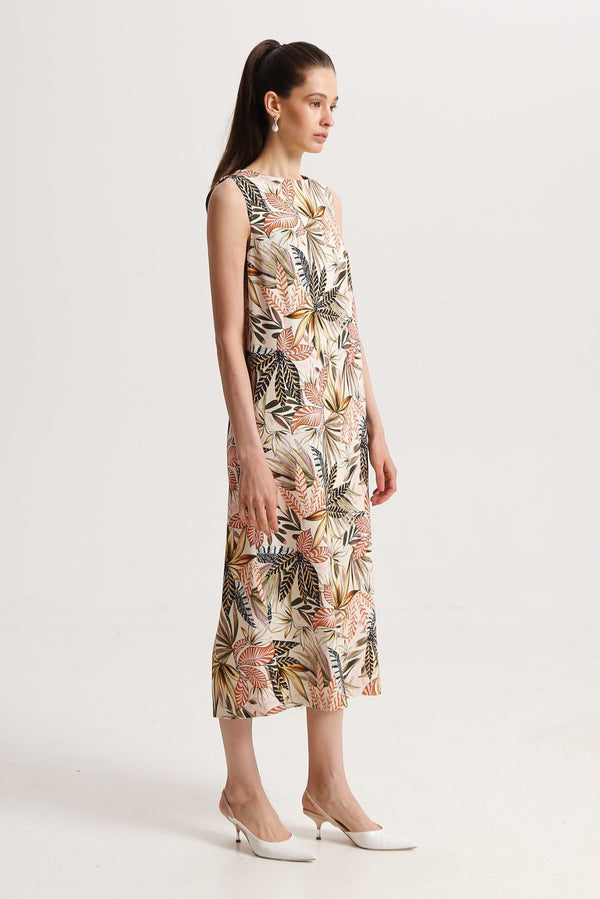 Tropical Print Dress - dresses - SHAKO