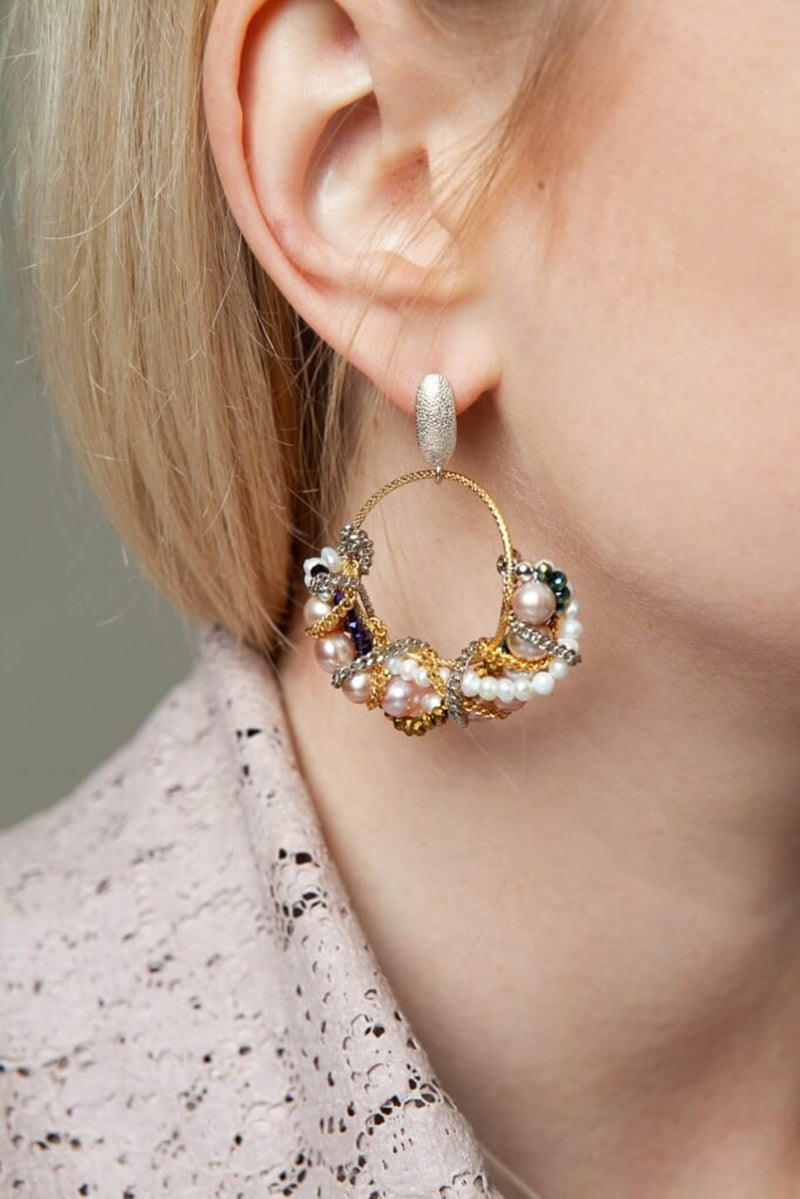 Vivienne pearl earrings - earrings - Samokish