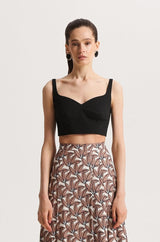 Wide strap crop-top - tops - SHAKO
