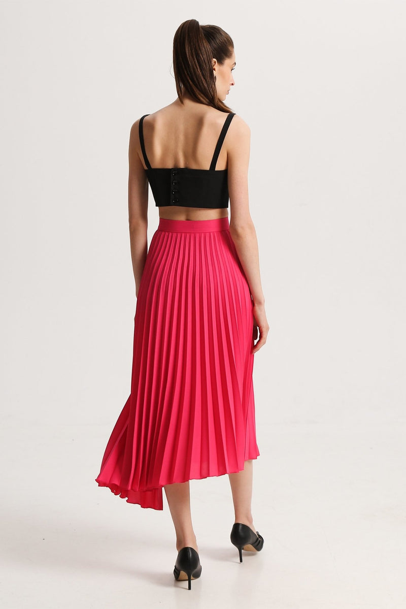 Wrap plitted skirt - skirts - SHAKO