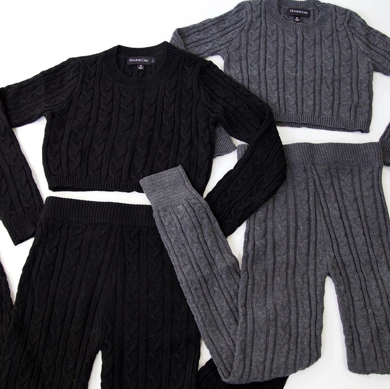 Cable Knit Set