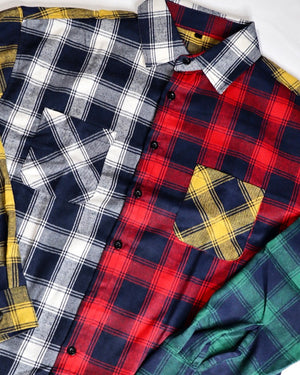 'Color Block Plaid Shirt'
