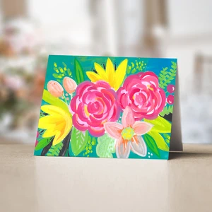 ALT: Roses thank you card