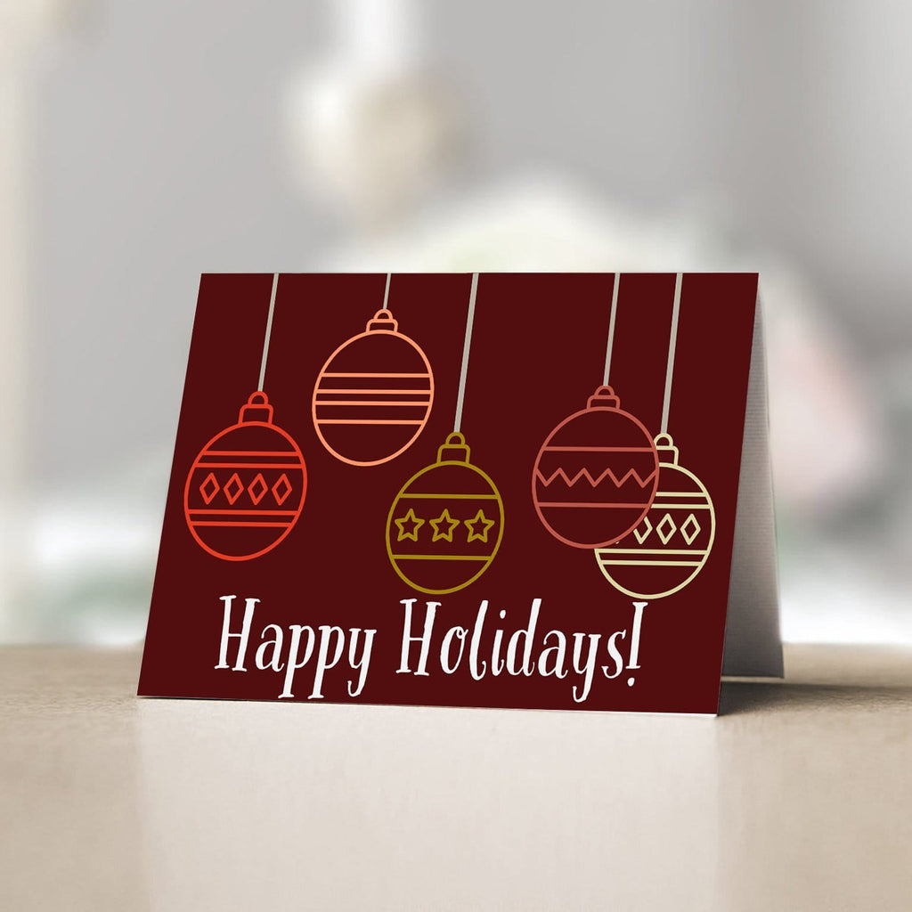 Dark Red Holiday Card