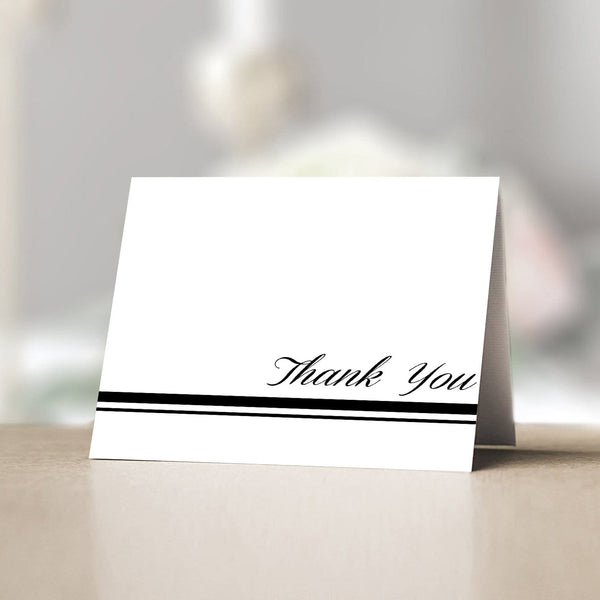 Thank You Card Black Line