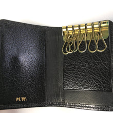 Load image into Gallery viewer, Vintage Mappin & Webb Black Leather Faux Lizard Key Wallet-Accessories, For Her-Brand Spanking Vintage
