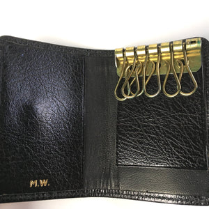 Vintage Mappin & Webb Black Leather Faux Lizard Key Wallet-Accessories, For Her-Brand Spanking Vintage
