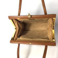 Load image into Gallery viewer, Vintage Caramel Brown Leather Small Kelly Bag by Waldybag-Vintage Handbag, Kelly Bag-Brand Spanking Vintage