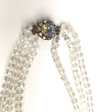 Load image into Gallery viewer, Vintage 50s Triple Strand Aurora Borealis Crystal Necklace-Accessories, For Her-Brand Spanking Vintage