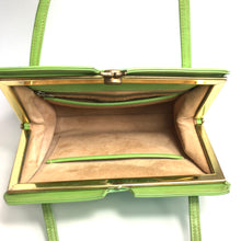 Load image into Gallery viewer, Vintage 50s 60s Lime Green Leather Twin Handled Kelly Bag with Suede Lining-Vintage Handbag, Kelly Bag-Brand Spanking Vintage