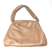 Load image into Gallery viewer, Vintage 50s 60s Mink Taupe Leather Dolly Bag by Jane Shilton Made in England-Vintage Handbag, Dolly Bag-Brand Spanking Vintage