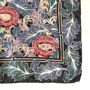 Vintage Liberty of London Silk Scarf in Grey/Blue/Green/Red/Taupe William Morris Art Nouveau-Scarves-Brand Spanking Vintage