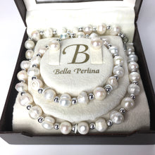 Load image into Gallery viewer, Bella Perlina Baroque Freshwater Pearl Necklace Bracelet and Pearl Earrings-Accessories, For Her-Brand Spanking Vintage