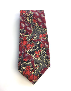 Vintage Tana Lawn Cotton Tie by Liberty of London in Stylised William Morris Design-Accessories, For Him-Brand Spanking Vintage
