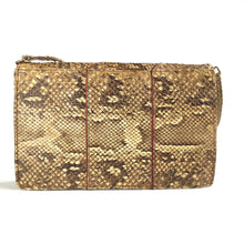 Load image into Gallery viewer, Vintage 30s 40s Snakeskin and Leather Handbag/Shoulder Bag with Feature Red Leather Button Clasp and Matching Purse/Mirror-Vintage Handbag, Exotic Skins-Brand Spanking Vintage