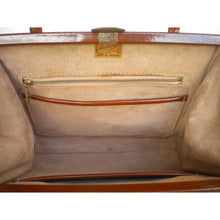 Load image into Gallery viewer, Elegant Vintage 50s/60s Toffee/Ginger/Tan Patent Leather Twin Handled Kelly Bag By Ackery Of London-Vintage Handbag, Kelly Bag-Brand Spanking Vintage