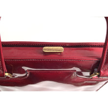 Load image into Gallery viewer, Vintage 1950s/60s Lipstick Red Patent Leather Dainty Kelly Bag, Top Handle Bag by Lodix Made in England-Vintage Handbag, Kelly Bag-Brand Spanking Vintage